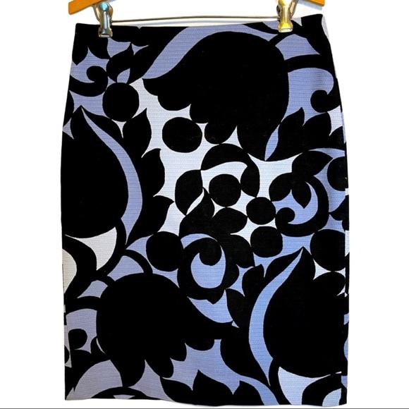Ann Taylor Bold Floral Print Pencil Skirt
